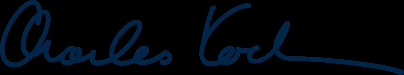 Charles Koch's signature